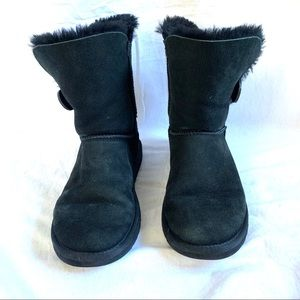 UGG Bailey Button black boots Size 6